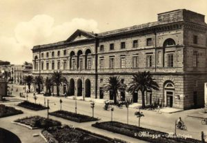 Historical photo of the Milazzo Town Hall