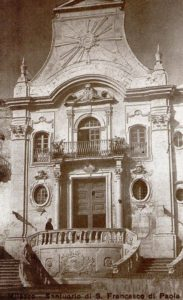 Historical photo of the sanctuary of Saint Francesco di Paola - Milazzo
